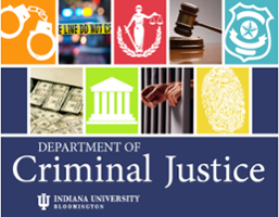 Department of Criminal Justice logo containing a collage of criminal justice related images.